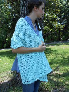 Shawl Prayer Shawl Crocheted Minty Green by TheCrochetLady