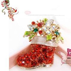 Jewelry accessories lady boot with christmas gifts alloy colored