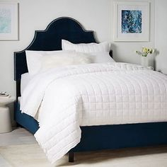 Polly Upholstered Bed #westelm