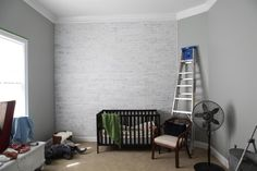 Wishy Washy Brick Wall - also see http://herothhome.com/2013/10/28/how-to-whitewash-faux-brick-paneling/