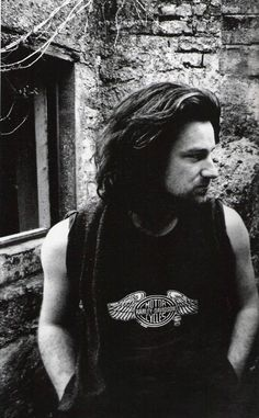 Bono w/ great hair-Unforgettable Fire era