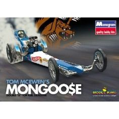 Tom McEwens Mongoose Double A Top Fuel Dragster Model Kit.