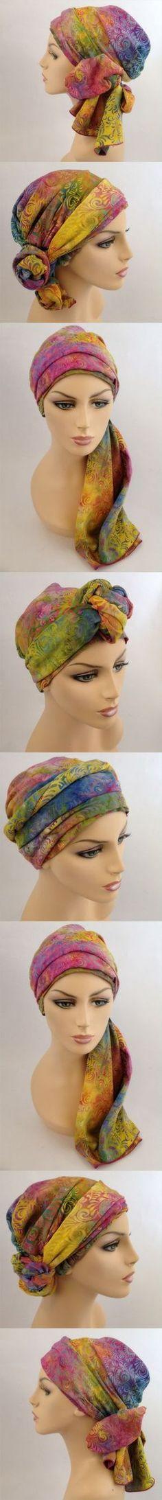 Headwrap Head Scarf Ladies Hair Tie Poppy print  Head Wrap