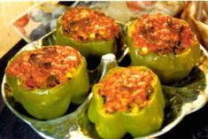 Chef Paul Prudhomme's Stuffed Bell Peppers