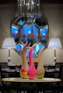 Three Salinas Art Glass Sculptures from the interior of the Fountain Restaurant in the Four Seasons Hotel Philadelphia