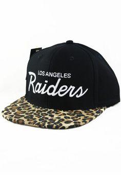 0633593c0b4 LA Raiders Script Custom Leopard Snapback  50