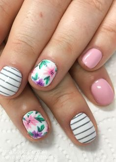 Watercolor Nail Art for Summer