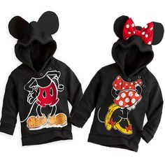 New Fashion Cute Kids Girls Boys Minnie Mouse Hooded Jacket Sweater Hoodie Coat Disneyland Outfits, Disney Outfits, Disney Clothes, Disneyland Ideas, Disneyland Vacation, Family Outfits, Girl Outfits, Luxury Baby Clothes, Cheap Online Clothing Stores