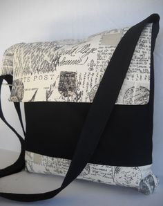Messenger Bag / Crossbody Bag / Tote Bag French by jazzygeminis, $30.00