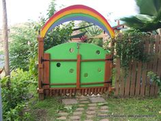 Always keep in mind the entry to your playscape as an invitation to the mysteries that await.