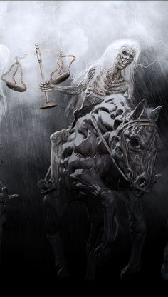 The four horsemen by chokata (detail) Grim Reaper Art, Grim Reaper Tattoo, Arte Horror, Horror Art, Dark Fantasy Art, Dark Art, Apocalypse Tattoo, Evil Tattoos, Dark Pictures