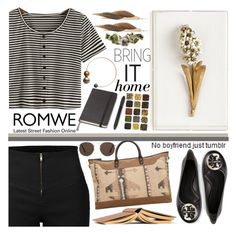 """""""Romwe Top ~~ ♥"""" by av-anul ❤ liked on Polyvore featuring Tory Burch, Moleskine, LE3NO, Tommy Mitchell, MANGO, ALDO, ...Lost, romwe and avanul"""