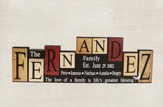 Personalized Last Name Wood Blocks, Custom Family Decorative Blocks, Anniversary Gifts for Parents, Real Estate Closing Gift, 9 Letters Name