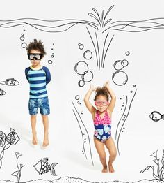 Tea has adorable baby girl swimwear, plus rash guards and sunglasses to keep her protected from the sun. Shop baby girl swimsuits at Tea Collection. Baby Girl Swimwear, Baby Girl Swimsuit, Creative Photography, Children Photography, Outdoor Photography, Photography Props, Illustrations, Photo Illustration, Doodle On Photo