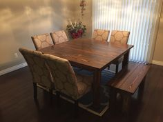 6 chairs and a bench seat ana white furniture square dining tables