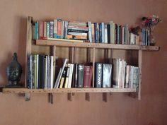 Handmade asymmetric bookshelf.