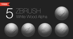 Free Zbrush - White Wood Alpha  Contain:- - Total 5 Alpha - Resolution of alpha 1024x1024 size - Format PSD  If this alpha useful for you follow me and support me!