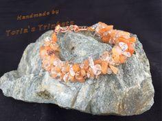 Quartz twisted gemstone bracelet: quartzite bracelet; kumihimo bracelet; cluster bracelet; luxury bracelet; gemstone bracelet; chakra - pinned by pin4etsy.com