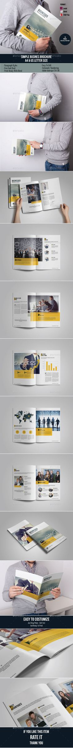 Simple Business Brochure Template #design Download: http://graphicriver.net/item/simple-business-brochure/11814850?ref=ksioks