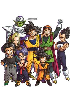Dragon Ball Z - Piccolo, Goku, Gohan, Vegeta, Android 18, Krillin, Trunks, & Goten