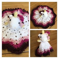 Mesmerizing Crochet an Amigurumi Rabbit Ideas. Lovely Crochet an Amigurumi Rabbit Ideas. Crochet Unicorn Blanket, Crochet Security Blanket, Crochet Baby Blanket Beginner, Crochet Lovey, Manta Crochet, Crochet Blanket Patterns, Crochet Gifts, Crochet Dolls, Free Crochet