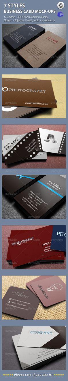 Horizontal Business Card Mockup on Shelf   Mockup, Business cards ...