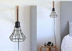 DIY Cage Light Sconces