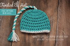 twisted elf hat free crochet pattern