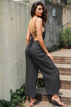 0ad9f28e18 Hollow Out Backless Jumpsuit