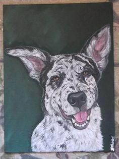 Custom Dog Cat Any Pet Portrait 8x10 by daniellesoriginals on Etsy, $55.00