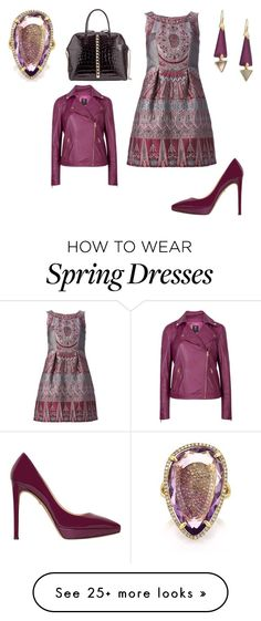 """""""Untitled #19708"""" by edasn12 on Polyvore featuring Alberta Ferretti, Alexis Bittar, Valentino, Ted Baker and Mark Broumand"""