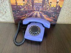 Vintage Purple phone, Old rotary phone, Lilac phone, Circle dial rotary phone, Vintage landline phone, Old Dial Desk Phone, Purple phone Pay Attention To Me, Retro Phone, Lilac, Purple, Rotary, Landline Phone, Desk, Vintage, Desktop