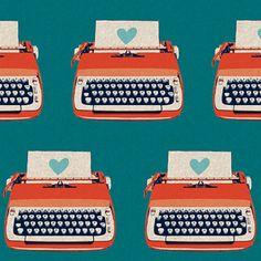 Typewriters Blue in Ruby Star Shining