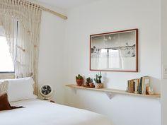 bedroom plant shelf at the Joshua Tree Casita Air bnb, Kate Sears photo