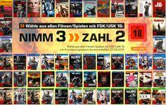 Nimm 3 zahl, 2 Aktion auf FSK 18-Titel – Games, Blu-rays, DVDs