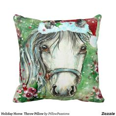 Holiday Horse  Throw Pillow