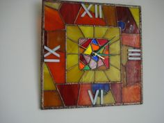 Clock - stained glass