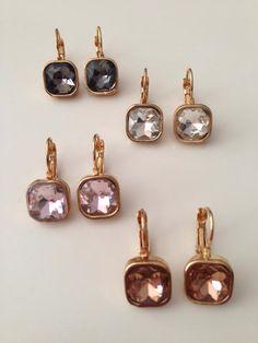 Earrings, pendientes, cristal