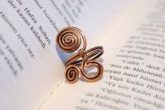 Wire wrapped ring-copper ring-adjustable wire wrapped copper ring -wire wrapped jewelry handmade-copper jewelry
