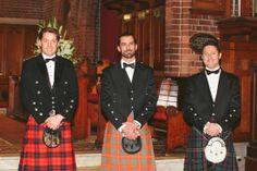 grooms in kilts