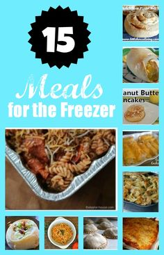 If you have never tried Freezer Cooking, it can be a great way to save a ton of time getting ready for dinner. Check out these 15 awesome Meals for the Freezer!