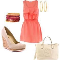 Coral... perfect dress for a bridal shower perhaps?