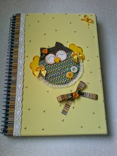 Escolinha da Tatá: Caderno Decorado!!!