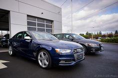 2013 Audi S4 in Estoril Blue Crystal Effect at Audi Wilsonville