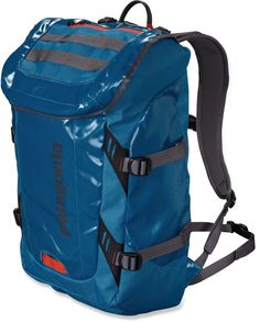 The Patagonia Black Hole daypack is a highly water-resistant, super-durable pack designed to carry your gear to class, to the crag, or the beach. Holds your laptop, too. #REIcampusguide