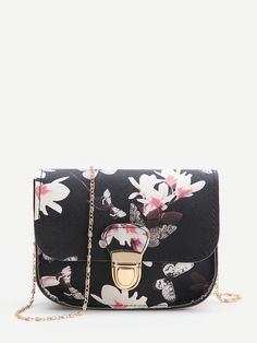4fcc0dbc38 To find out about the Black Floral Print Chain Bag at SHEIN, part of our  latest Crossbody ready to shop online today!