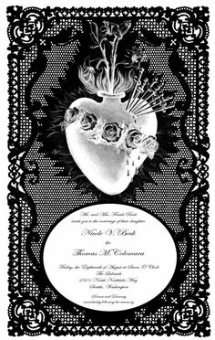 Victorian Inspired Paper Lace Wedding Invitation by Christopher Young