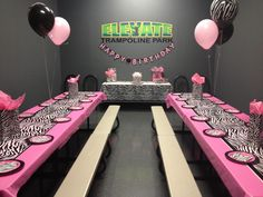 Girls Party Room at Elevate Trampoline Park in McKinney Texas!