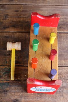 Wooden Playskool Pounding Bench. $24.99, via Etsy.