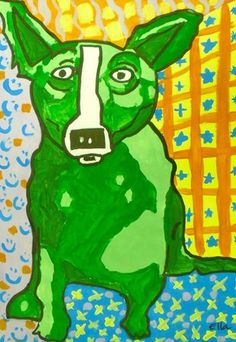 Blue Dog goes Green.....4th grader did this one....